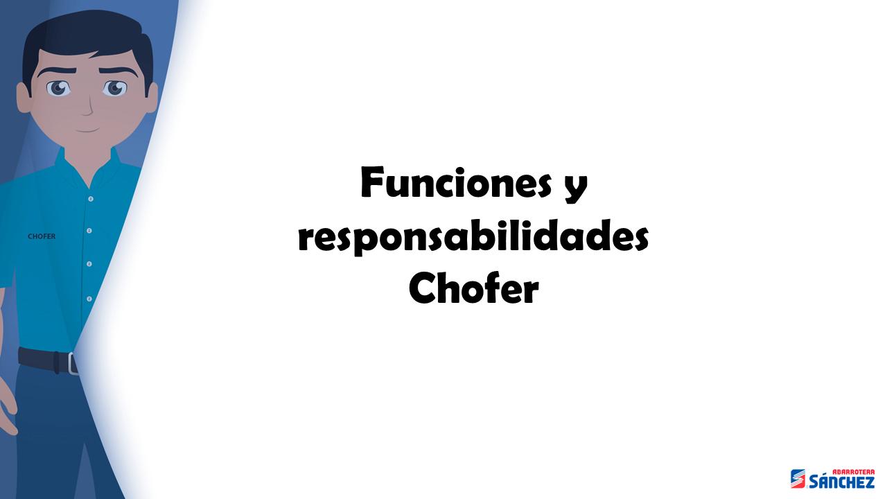 Inducción Chófer Sucursal